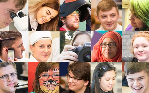 Faces of students