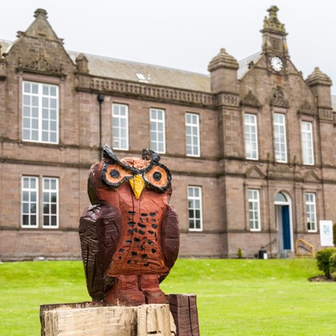 The Owl at the Isla Building, Arbroath Campus