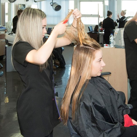 hairdressing students