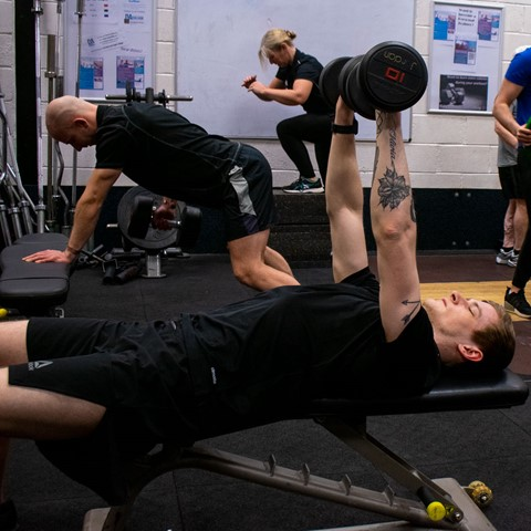 students in fitness suite