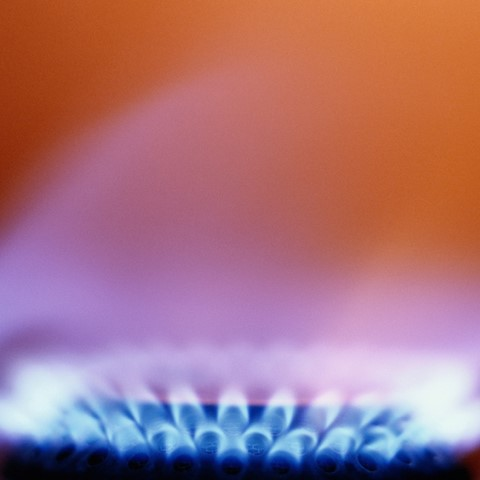 Orange gas hob ring