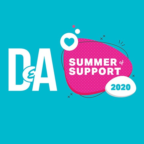 Summer of Support blue graphic