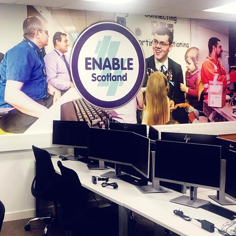 ENABLE Scotland classroom with computers